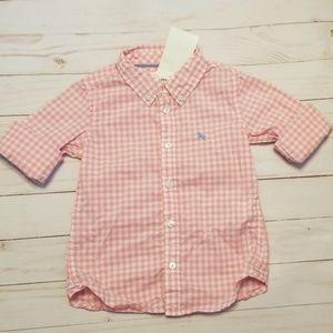 H&M pink & white checkered shirt